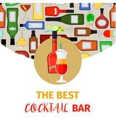 cocktail bar banner vector image vector image