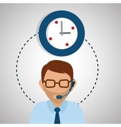 design of call center editable vector image