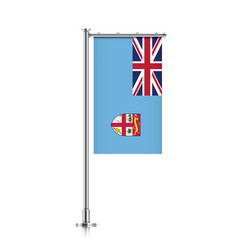 flag of fiji hanging on a pole vector image