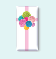 Gift box with a bunch of colorful baby kids vector