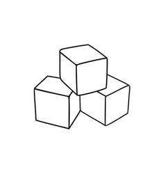 cubes childrens toy vector image