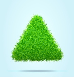 Green Grass Triangle or Pyramid on a Blue Clear vector image vector image
