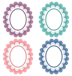 Lace frames isolated on white vector image vector image