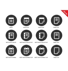 Note icons on white background vector image vector image