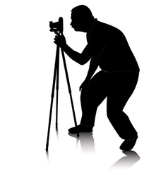 photographer silhouette vector image
