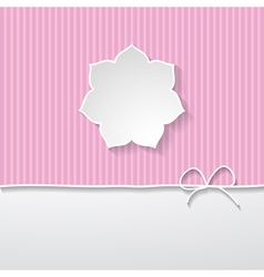 pink striped background with a frame vector image
