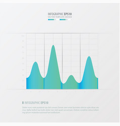 graph and infographic design blue color vector image