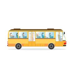 passengers in public transport bus vector image