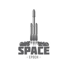 rocket falcon heavy vector image