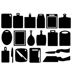 Set of kitchen cutting boards vector image