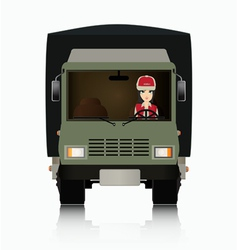 Truck Driver vector image vector image