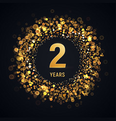 2 years anniversary isolated design element vector