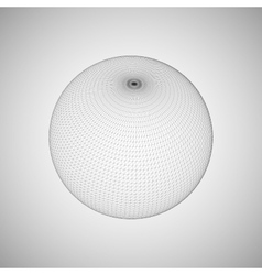 3D sphere with global line connections vector image