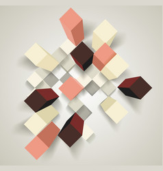 Abstract background with 3d cubes and rhombus vector