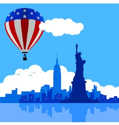 Air Balloon On New York City vector