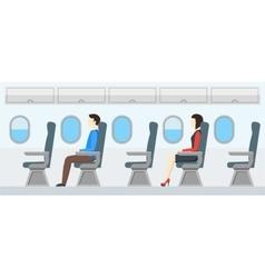 Airplane Transport Interior Retro Travel vector image