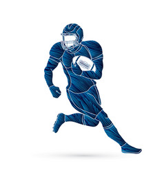 American football player action sport concept vector