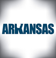 Arkansas state graphic vector image