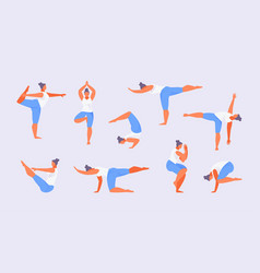 asanas balance vector image