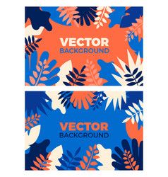 background with plants and leaves in vector image