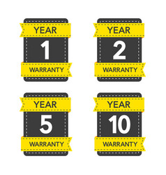 Badges set with year warranty on white background vector