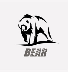 Bear stylized silhouette logo template vector