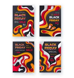 black friday sale best offer save money set vector image