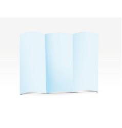 Blue folded paper vector