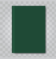 book cover mock up dark green color ready vector image