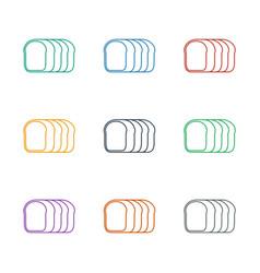 Bread slices icon white background vector