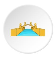 Bridge icon cartoon style vector
