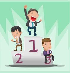 business man cartoon winner rating vector image