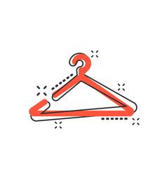 cartoon hanger icon in comic style wardrobe vector image