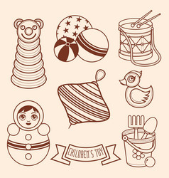 Child toy pattern design element vector