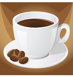 Coffee and grains vector