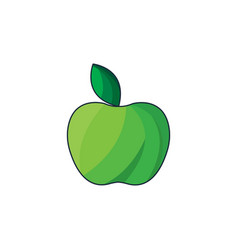 color green apple icon vector image
