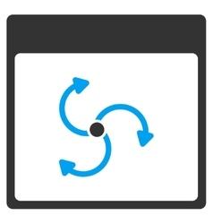 Cyclone Calendar Page Toolbar Icon vector