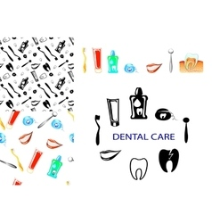 dental care set vector image