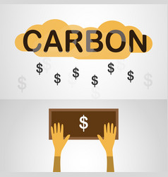 design in concept of carbon pricing on grey vector image
