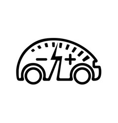 electric vehicle icon modern e-car line vector image