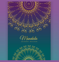 ethnic mandala decoration background design vector image