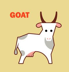 Farm animal goat simple vector