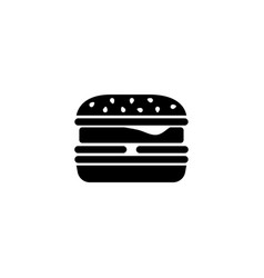 fast food burger cheeseburger hamburger flat icon vector image