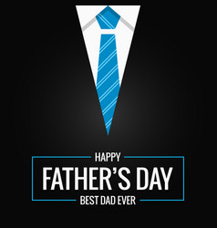 Fathers day card on black background vector