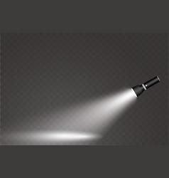 Flashlight on a transparent background vector