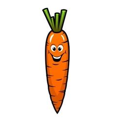 Fresh orange carrot vegetable vector
