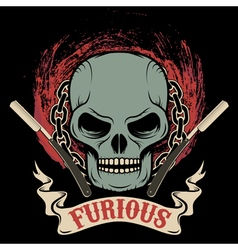 furious vector image