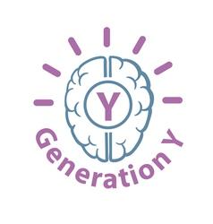 Generation y icon vector
