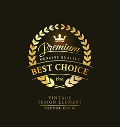 gold vintage retro badge premium vector image