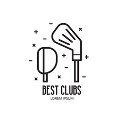 Golf club logotype or league emblem vector